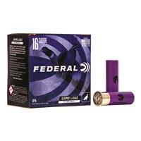 "Federal Classic Hi-Brass, 16 Gauge, 2 3/4"", 1 1/8 oz., Shotshells, 25 Rounds"
