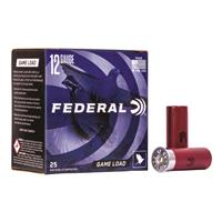 "Federal Game Load, 12 Gauge, 2 3/4"", 1 oz., Shot Shells, 25 rounds"