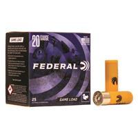 "Federal Game Load, 20 Gauge, 2 3/4"", 7/8 oz., 250 Rounds"