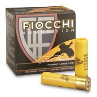 """Fiocchi, Golden Pheasant, 20 Gauge, 3"""" Shells, 1 1/4 oz., Nickel Plated, 25 Rounds"""