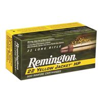 Remington 22 Yellow Jacket, .22LR, Hollow Point, 33 Grain, 500 rds.