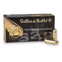 Sellier & Bellot, 9mm, FMJ, 115 Grain, 1,000 Rounds