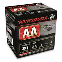 """Winchester AA Target Load, 28 Gauge, 2 3/4"""", 3/4 oz., 250 Rounds"""