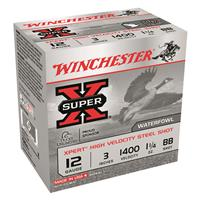 "Winchester Super-X Xpert High-Velocity Steel, 12 Gauge, 3"" Shot Shells, 1 1/4 oz., 250 Rounds"