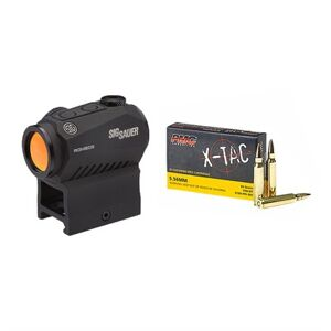 Brownells X-Tac 5.56 Nato Ammo With Romeo5 Compact Red Dot Sight - 5.56mm Nato 55gr Fmj 200rds W/Romeo5 Red Dot Sight