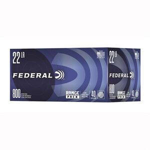 Federal Range Pack 22 Long Rifle Lead Round Nose Ammo - 22 Long Rifle 40gr Lead Round Nose 800/Box