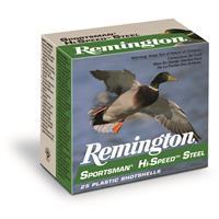 "Remington Sportsman Hi-Speed Steel, 12 Gauge, 3"" Shot Shells, 1 1/8 oz., 250 Rounds"