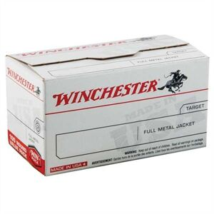 Winchester Usa White Box Ammo 45 Acp 230gr Fmj - 45 Auto 230gr Full Metal Jacket Round Nose 100/Box