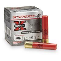 "Winchester Super-X High Brass Game Loads, .410 Bore, 2 1/2"", 1/2 oz., 25 Rounds"