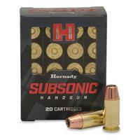 Hornady Subsonic, .45 ACP, XTP, 230 Grain, 20 Rounds
